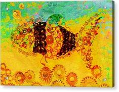 Robotic Fossil - Fish Acrylic Print by Fran Riley