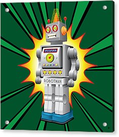 Robotman Acrylic Print by Gary Grayson