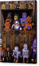Robots In Treasure Box Acrylic Print
