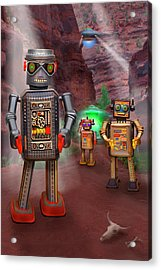 Robots With Attitudes 2 Acrylic Print by Mike McGlothlen