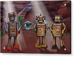 Robots With Attitudes  Acrylic Print by Mike McGlothlen