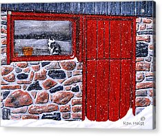 Acrylic Print featuring the painting Rob's Barn by Ron Haist