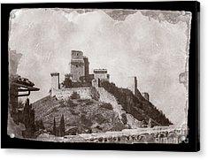 Rocca Maggiore Castle Acrylic Print