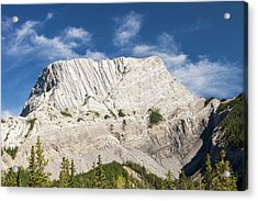 Roche Miette In The Canadian Rockies Acrylic Print