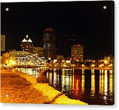 Rochester At Night Acrylic Print