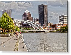 Rochester By The River Acrylic Print