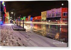 Rochester Michigan Christmas Light Display Acrylic Print by Twenty Two North Photography