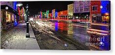 Rochester Michigan Christmas Lights Acrylic Print by Twenty Two North Photography