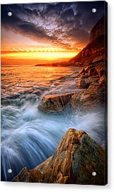 Rock A Nore Splash Acrylic Print by Mark Leader
