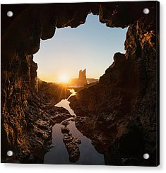 Rock And Cave Acrylic Print