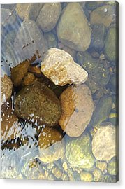 Rock And Pebbles Acrylic Print by David Stribbling