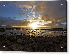 Rock And Reflections Acrylic Print by Brian Governale