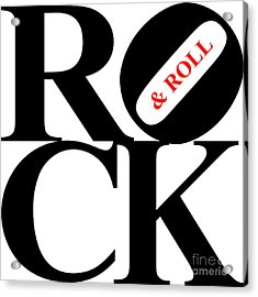 Rock And Roll 20130708 Black White Red Acrylic Print by Wingsdomain Art and Photography