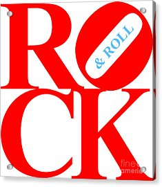 Rock And Roll 20130708 Red White Blue Acrylic Print by Wingsdomain Art and Photography