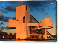 Rock And Roll Hall Of Fame Acrylic Print by Jerry Fornarotto