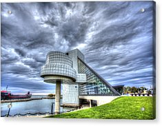Rock And Roll Hall Of Fame Acrylic Print by Shawn Everhart