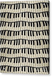 Rock And Roll Piano Keys Acrylic Print by Phil Perkins