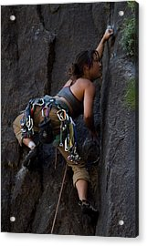 Rock Climbing Acrylic Print by Brian Williamson