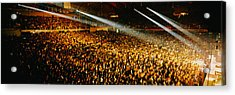 Rock Concert Interior Chicago Il Usa Acrylic Print by Panoramic Images