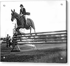 Rock Creek Hunt Club Jumps Acrylic Print by Underwood Archives