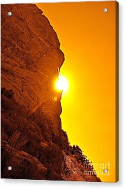 Rock Eclipse  Acrylic Print by Gem S Visionary