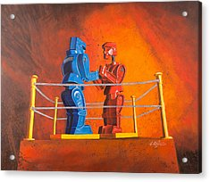 Rock 'em Sock 'em Robots Acrylic Print by Karl Melton