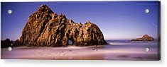 Rock Formation On The Beach, One Hour Acrylic Print