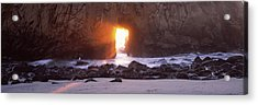 Rock Formation On The Beach, Pfeiffer Acrylic Print