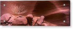 Rock Formations, Antelope Canyon, Lake Acrylic Print by Panoramic Images