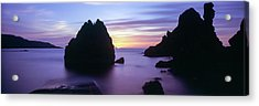 Rock Formations In The Sea At Sunset Acrylic Print