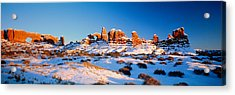 Rock Formations On A Landscape, Arches Acrylic Print by Panoramic Images