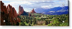 Rock Formations On A Landscape, Garden Acrylic Print