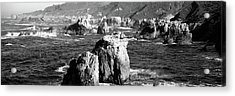 Rock Formations On The Beach, Big Sur Acrylic Print