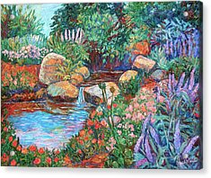 Rock Garden Acrylic Print by Kendall Kessler