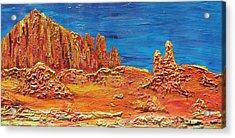 Rock Grove Acrylic Print by Marcia Weller-Wenbert
