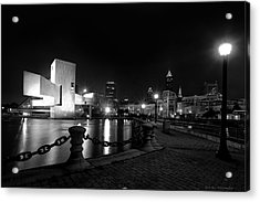 Rock Hall And Great Lakes Science Center Acrylic Print by Daniel Behm