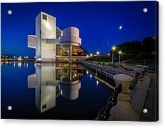 Rock Hall At Blue Hour Acrylic Print