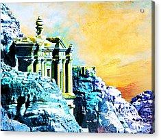Rock Hewn Monastery Ad-deir Acrylic Print by Catf