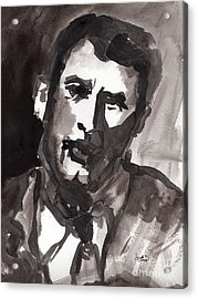 Rock Hudson Watercolor Sketch Acrylic Print by Ginette Callaway