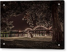 Rock In Leclaire Park Acrylic Print by Ray Congrove