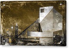 Rock 'n Roll Hall Of Fame Acrylic Print by Sandra Rozhon