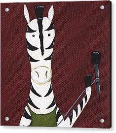 Rock 'n Roll Zebra Acrylic Print by Christy Beckwith