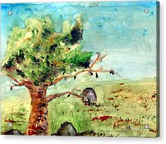 Rock Of Ages Acrylic Print by Ayasha Loya