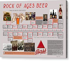 Rock Of Ages Bass Beer Timeline Acrylic Print