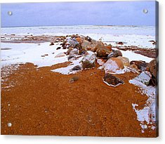 Rock Pile In Winter Wcae2pd  Acrylic Print by Lyle Crump