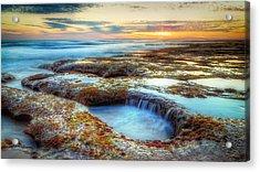 Rock Pools Acrylic Print by Paradigm Blue