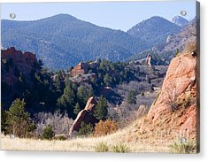 Rock Quarry At Red Rocks Open Space Acrylic Print