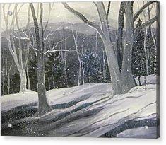 Rock Ridge Snowscene Acrylic Print by Gretchen Allen