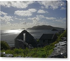 Rock Ruin By The Ocean - Ireland Acrylic Print by Mike McGlothlen