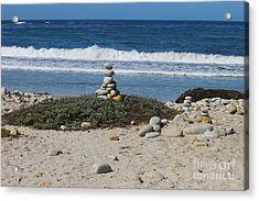 Rock Sculpture 2 Acrylic Print by Bev Conover